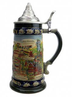 German Legends Ceramic Stein with Lid