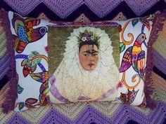 Items similar to Frida Kahlo Pillow Talavera Birds Folk Art Flowers Tree of Life Design on Etsy Mexican Artwork, Mexican Folk Art, Folk Art Flowers, Flower Art, Mexican Pillows, Fabric Birds, Life Design, Tree Of Life, Pillow Design