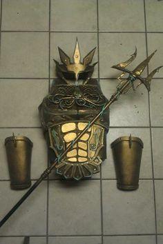 Poseidon armor embellished with InstaMorph