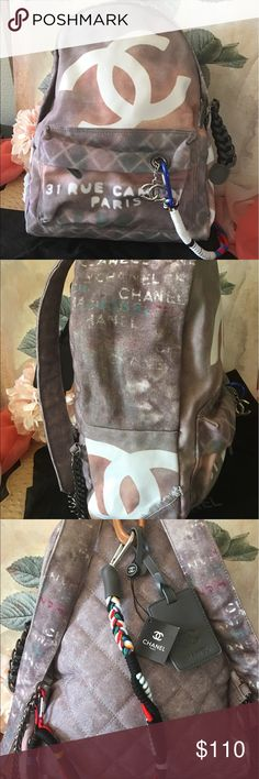 Designer Style Large Graffiti backpack NWT OMG so cute!!!! Adorable adorable  designer style Graffiti backpack that is pretty large in size. none Bags Backpacks