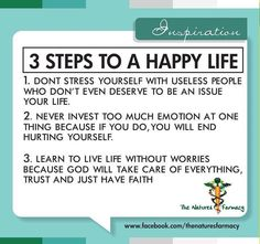 Tips to a happy life