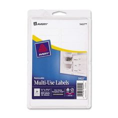 Avery Self-Adhesive Removable Labels 0.5 x 1.75 Inches White 840 per Pack (05... #AveryDennison