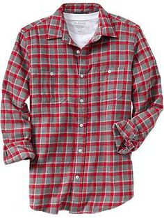 Mens Regular-Fit Flannel Shirts