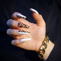 Aycrlic Nails, Hot Nails, Bling Nails, Swag Nails, Stylish Nails, Trendy Nails, Leopard Print Nails, Glamour Nails, Fire Nails