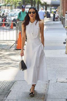 Jenna Dewan-Tatum wearing Temperley London out in NYC