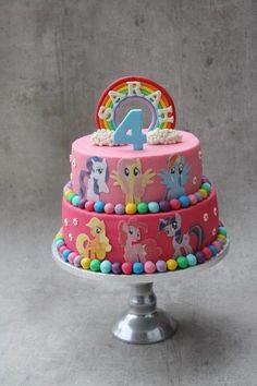 My little pony - Cake by Bonzzz Bolo My Little Pony, Cumple My Little Pony, Disney Princess Birthday Cakes, Happy Birthday Cakes, 5th Birthday, Rainbow Dash Cake, My Little Pony Birthday Party, Just Cakes, Sweet Cakes