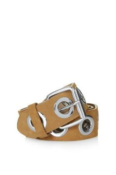 Premium Suede Eyelet Belt - Topshop