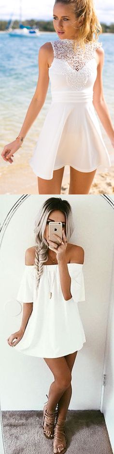 #summer fashion white dress#summer fashion off the shoulder white dress