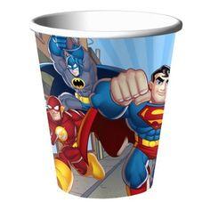 8ct Hallmark Party DC Comics Justice League 9oz Paper Cups