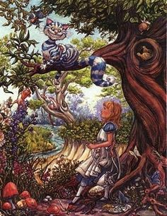 Alice and the Cheshire cat, S. M. Wiggins