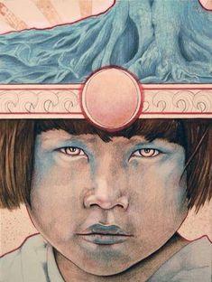 "Saatchi Art Artist Michael Shapcott; Painting, ""Sun Child No.2"" #art"