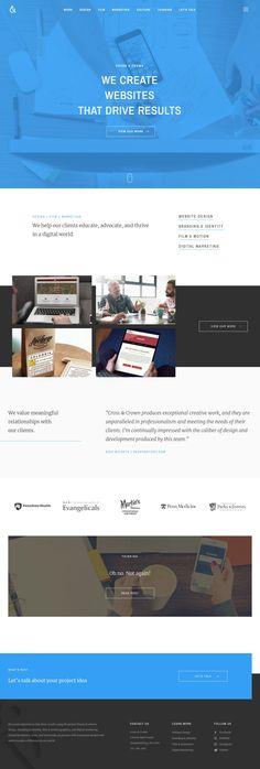 Cross & Crown (More web design inspiration at topdesigninspiration.com) #design #web #webdesign #sitedesign #responsive #ux #ui Design Web, Site Design, Create Website, Web Design Inspiration, Website Template, Identity, Crown, Inspire, Templates