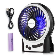 OPOLAR F201 Rechargeable Portable Mini USB fan with Upgrade 2200mAh Battery Personal Fan, Portable Fan, Usb, Sleep, Fans, Amazon, Night, Amazons, Riding Habit