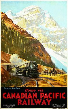 Home via Canadian Pacific Railway. Mount Stephen, 1930s. JUL16