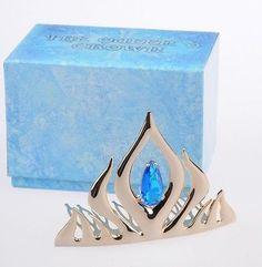 2014 New Elsa Tiara Crown Disney Store Frozen Jewel Snow Queen Princess Laurel | eBay