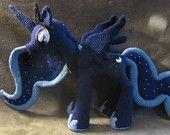 Ravelry: Princess Luna from My Little Pony pattern by The Nerdy Knitter Crochet Doll Pattern, Crochet Patterns, Crochet Ideas, Amigurumi Patterns, Crochet Animals, Crochet Toys, Doll Patterns, Beading Patterns, Mlp