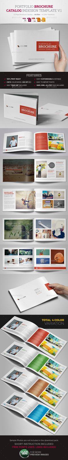 Portfolio Brochure InDesign Template