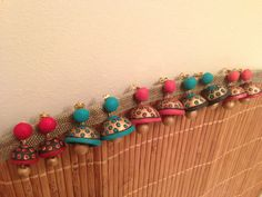 Beautiful terracotta clay jhumkas in different colors. by Shezas