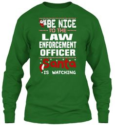 Be Nice To The Law Enforcement Officer Santa Is Watching.   Ugly Sweater  Law Enforcement Officer Xmas T-Shirts. If You Proud Your Job, This Shirt Makes A Great Gift For You And Your Family On Christmas.  Ugly Sweater  Law Enforcement Officer, Xmas  Law Enforcement Officer Shirts,  Law Enforcement Officer Xmas T Shirts,  Law Enforcement Officer Job Shirts,  Law Enforcement Officer Tees,  Law Enforcement Officer Hoodies,  Law Enforcement Officer Ugly Sweaters,  Law Enforcement Officer Long…