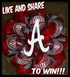Wreath Alabama Football Alabama Wreaths, Alabama Football, Alabama Crimson Tide, 4th Of July Wreath