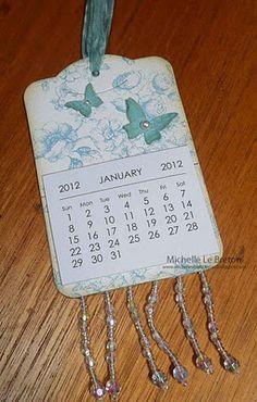 Calendar on two tags die