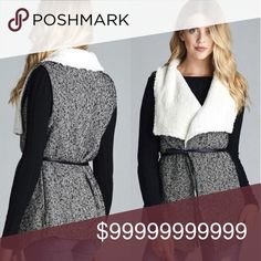 COMING SOON!! Beautiful for fall! Faux fur tweed vest in black and white 80% Polyester 20% Wool Very High Quality Please like this listing to be tagged when item arrives! Jackets & Coats Vests