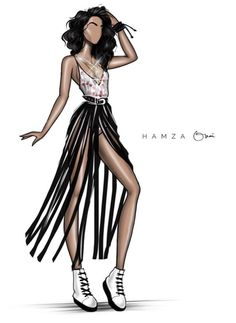 #LizaKoshy @hamzaokai| #FashionIllustrations| Be Inspirational ❥|Mz. Manerz: Being well dressed is a beautiful form of confidence, happiness & politeness