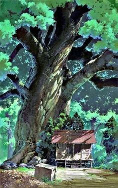 My Neighbor Totoro (Studio Ghibli) I just want to live under that tree.