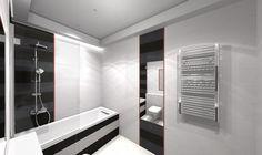 czarno biała łazienka - zdjęcie od BLU salon łazienek Słupsk