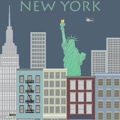 New York 2. Berlin. Poster. Wandbild.