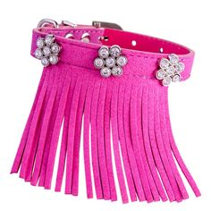 Vanderpump Pets Fringe and Diamond Suede Collar >> To view further, visit now : Collars for dogs