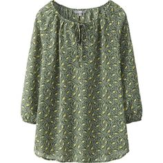 WOMEN PRINTED 3/4 SLEEVE BLOUSE