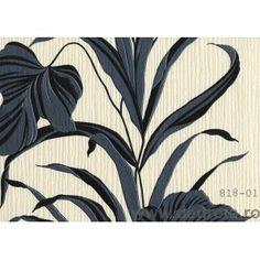 Tapet PVC Palmier negru-alb