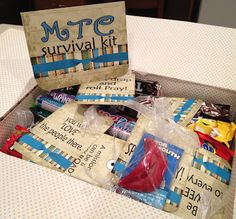 Little Miss Suzy Q-Mission Survival Kit with free printable tags and card.