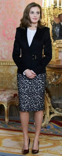 HM Queen Letizia of Spain at the Royal Palace in Madrid for the annual meeting of the  Princess of Girona Foundation - Dec 2018