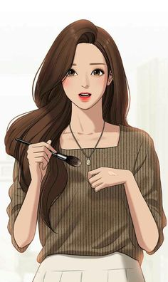 Anime Girl Cute, Beautiful Anime Girl, Anime Art Girl, Chica Fantasy, Fantasy Girl, Webtoon Comics, Anime Girl Drawings, Digital Art Girl, Jolie Photo
