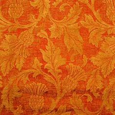 orange decorated fabric