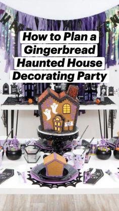 Gingerbread Decorations, Spooky Halloween Decorations, Halloween Haunted Houses, Halloween Food For Party, Halloween Costumes For Kids, Halloween Treats, Creative Kids, Party Ideas, Fall