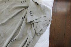 Gray Heavy Weight Linen Throw by Caroline Z Hurley