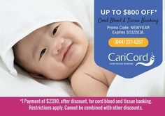 Last Day! Call now to save on cord blood and tissue banking!
