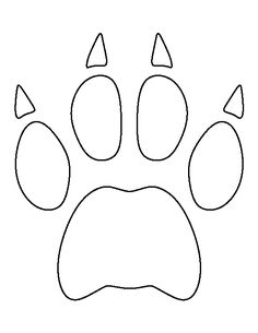 Pin by muse printables on printable patterns at for Tiger paw template