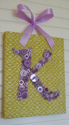 Button initial wall art