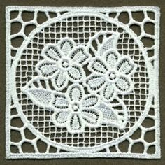FSL Floral Doily 1 - 4x4 | What's New | Machine Embroidery Designs | SWAKembroidery.com Ace Points Embroidery