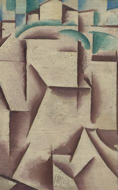 Cubist Landscape and Contemplation recto-verso by Josef Capek Cubist Paintings, Cubist Art, Pablo Picasso, Modern Art, Contemporary Art, Georges Braque, Constructivism, Art Day, Art History
