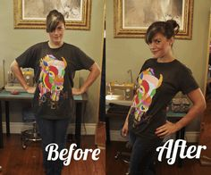 Resize it. | 14 Cute DIYs To Make An Old Band T-Shirt Cool Again