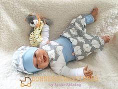 Sets - ❤ SET Pumphose + Mütze HIPPO Boy Geburtsgeschenk - ein Designerstück von Donnerstagskinder bei DaWanda