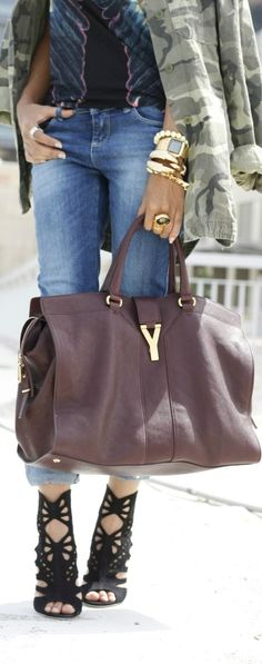 .I love those shoes and bag ahhhhhhhh very nice