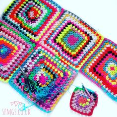 Scrappy Granny Square Crochet Blanket | WIP Wednesday - Use up your yarn stash scraps and all those snipped ends and make the most of each and every piece of yarn by crocheting an easy and fun Scrappy Granny Square Scrapghan crochet blanket while vegging out in front of the tv.