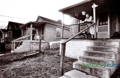 Bill Huddleston, left, and his sister Elizabeth Wardle, right,  lived next door to each other in Davis Bottom in 1980. At the time they were paying $85-a-month rent in the low-income community tucked between South Broadway and West High Street. In 2006 the 29 homes in Davis Bottom were torn down to make way for the Newtown Pike Extension. After eight years of work on the infrastructure the first of fourteen affordable housing units for families displaced by the project were dedicated ...
