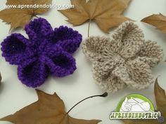 ▶ Flor de Trico Esplendor - Aprendendo Tricô Manual - YouTube